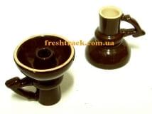 Чаша для кальяну керамічна зовнішня Фаннел з ручкою, фото 1, ціна
