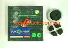 Уголь для кальяна кокосовый Euro Shisha Kaloud 1 кг, фото 1, цена